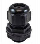 Product image for CABLE GLAND M16 BLACK WITH LOCKNUT