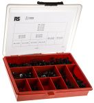 Product image for Blk steel hex socket csk head screw kit