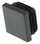 Product image for BLACK SQUARETUBE STOP,30SQ.MMX2MM T TUBE