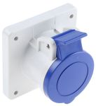 Product image for IP44 2P+E straight panel socket,16A 230V