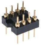 Product image for ASSMANN WSW Straight Through Hole Mount 2.54mm Pitch IC Socket Adapter, 8 Pin Male DIP to 8 Pin Male DIP