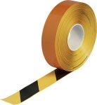 Product image for Brady Black/Yellow Vinyl Lane Marking Tape, 50.8mm x 30.48m