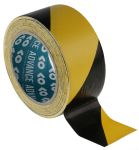 Product image for Advance Tapes AT8 Black/Yellow PVC 33m Hazard Tape, 50mm x