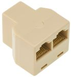 Product image for 8 way female to 2 female RJ45 adaptor