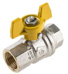 Product image for Gas T handle ball valve 1/2in F-F