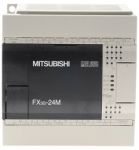 Product image for Mitsubishi FX3G Series Logic Module, 12 → 24 V dc Relay, 14 x Input, 10 x Output Without Display