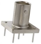 Product image for BNC jack, PCB, vertical, 50 Ohm, silver