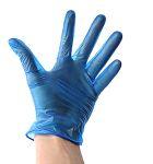 Product image for BLUE VINYL POWDERED GLOVE BX100 - MEDIUM