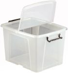 Product image for 40 LITRE CONTAINER WITH HINGED LID