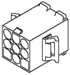 Product image for .093 PIN AND SOCKET PLUG HOUSING 6 WAY
