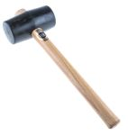 Product image for Black rubber mallet,525gm