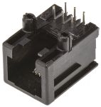 Product image for RJ25 modular jack, PCB, right angle, 6/6