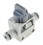Product image for 4mm 2/2 finger valve w/grey knob