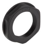 Product image for Locknut, nylon, black, PG16, IP68