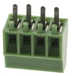 Product image for 4 way PCB terminal block 2.54mm