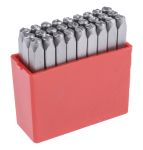 Product image for RS PRO 4mm x 27 Piece Engraving Letter Punch Set, (A to Z)