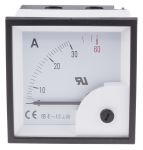 Product image for AC Ammeter 72x72 90 deg 0-30/60A