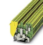 Product image for 1-LEVEL TERMINAL BLOCK GREEN-YELLOW
