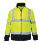 Product image for Hi-Vis Yellow/Navy Fleece, M