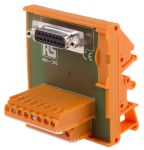 Product image for 15 way D socket DIN rail terminal