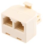 Product image for 6 way male to 2 female RJ11 adaptor