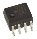 Product image for HCPL-0721 CMOS OPTO ISOLATOR, SO8