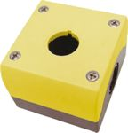 Product image for 1NO 1NC PUSHBUTTON STATION W/YELLOW LID