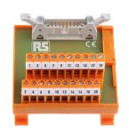 Product image for 20 way IDC header DIN rail terminal