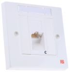 Product image for 1xRJ45 unshielded Cat5e angled faceplate