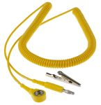 Product image for 10mm stud-banana cord,3.6m L 2meg coil