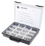 Product image for 1250,s/steel wood screw kit,cont Csk,Pz