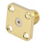 "Product image for SMA 27G 180° 4Hole Flange Jack(.031""pin)"