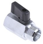 Product image for 1/2in BSPP F-M mini brass ball valve