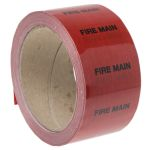 Product image for Pipe marking tape 'FIRE MAIN',50mmx33m