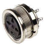 Product image for 3 way IP67 DIN panel socket,5A 250V