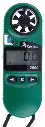 Product image for Kestrel KESTREL 2000 Rotary Vane 40m/s Max Air Velocity Air Velocity, Temperature, Wind Chill Anemometer