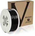 Product image for Verbatim 2.85mm Black PET-G 3D Printer Filament, 1kg