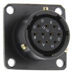 Product image for BZLC 10 way chassis mount socket,5A