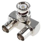 Product image for Nickel plated r/a BNC goalpost adaptor