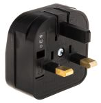 Product image for PowerConnections Europe to UK Mains Connector Converter, Rated At 5A