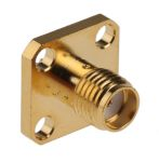 Product image for SMA Straight Square Flange Jack
