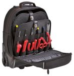 Product image for GT Line Fabric Wheeled Bag with Shoulder Strap 340mm x 150mm x 440mm