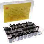Product image for 437 piece PVC Black Grommet Kit