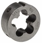 Product image for DIN HSS steel die,M12 1.75mm pitch25x9mm