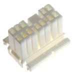 Product image for 0.70 Plug 2row,12 way skt contacts White