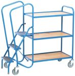 Product image for Order Picking Trolley - 3 Steps/ 3 Trays