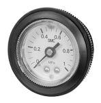 Product image for Gauge, AR Regulator, 0-1.0 MPa, 1/8 R