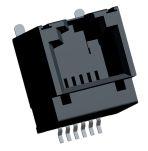 Product image for RJ11 6/6 vertical SMT PCB modular jack