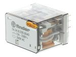 Product image for 4PDT 12A mini plug-in relay, 230Vac coil