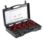 Product image for 9 piece plumbers hole saw kit